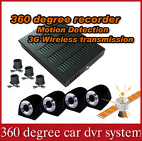 SOLOWELL 4 channel Full view H.264 Car dvr mobile dvr car black box with 3G function- X3000S