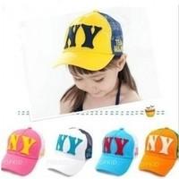Child baseball cap mesh cap baby summer hat male female child  sunbonnet cap summer hat free shipping