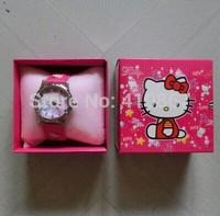 NEW Cartoon Hello Kitty Cartoon Watches Wristwatch box Child Christmas Gift Boys Girls 6pcs/lot