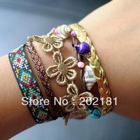 Free Shipping Autom color 3pcs/lot  2013 new brazilian bracelet hipanema style bracelet Colorful Magnetic Hipanema Bracelet
