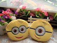 10PCS Kawaii Despicable ME Yellow Minions Coin Bag Purse & Wallet Pouch ; Mini Handbag Case Sack ; Change Cash BAG