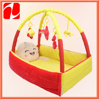 4 styles Shenzhen Best selling comfortable  plush baby cradle, plushportable bed, plush baby bed for baby boys
