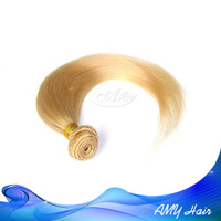 100% human hair peruvian straight remy human hair 4pcs/lot remy blonde color straight Peruvian human hair free shipping