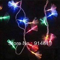 8-mode Colorful 10m 100 LED Fiber Optic Light String For Christmas Halloween Decoration Garden Party Wedding