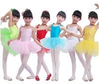 Children dance tulle dress girl ballet suspender dress fitness clothing performance wear leotard costume free drop shipping