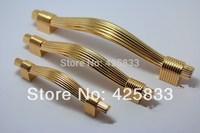 Fashion 6pcs 96mm Golden Classical Cupboard Door Handles Drawer Pulls Top Drawer Knobs Skert Kitchen Shoes Desk Knob