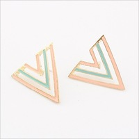 Min.order $10(mix) hollow triangle earring fashion jewelry wholesale statement stud earrings for women 2013 jewellery
