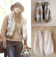 Plus Size Womens Faux Fur Vest Short False Artificial Wool Coat Woman Jacket 2013 New Fashion Autumn Winter Warm Clothing
