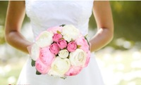 Free shipping 10 Pcs Rose Head/ Bridal Bouquet, Home Wedding Party Events Decoration Silk Artificial Camellia Flower