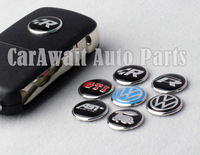 Free shipping 2pcs car key case key bag metal decorate sticker for VW Golf GTI Rline ABT Racing VW Magoton