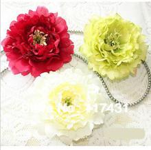 24 pcs Elegant Fashion Silk Artificial Simulation Big Peony Rose Camellia Flower Head Diy Jewelry Wedding & Christmas 17cm