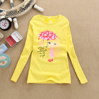 Wholesale! Special offer! 2012 winter&Autumn New Style Children's Girl's Long Sleeve T-shirt Kid's Fashion T-Shirts (mixed)