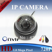 Free shipping New 1.0 mega pixels 720P HD ip network camera H.264 Indoor ip camera
