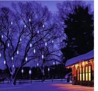 EU US plug 110V- 240V  30cm 8 pcs/set  LED Meteor Shower Light snowfall tube lights for Christmas outdoor landscape decoration