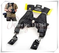 Dual Shoulder Quick Release Neck Belt Sling Strap For Two DSLR Camera Canon Nikon Pentax  SLR DSLR Cameras