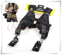 Dual Shoulder Quick Release Neck Belt Sling Strap For Two DSLR Camera Canon Nikon Sony Pentax Panasonic SLR DSLR Cameras