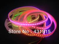 4M 144leds/m WS2811 LED digital strips,with 144pcs WS2811 built-in tthe 5050 smd rgb led chip,aterproof IP67,DC5V,White PCB