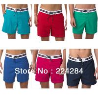 2013 Men Brand New Cotton Shorts Business casual boy sport short pants black/red/blue/green beachwear M/L/XL/XXL free shipping