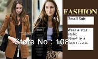 Free shipping , women's fashion coat lapel slim beautiful jacket/suits for women(85005)