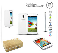 wholesale freeshipping dual core 4.3 INCH  MTK6572 RAM 512M 4GB FLASH GPS smartphone android 4.2.2 mini s4 phone