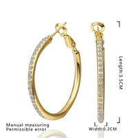 Lose money promotion!18k gold plated earring jewelry,fashion big circle Austria crystal women earring.Free shipping E463