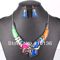 MS17164 Fashion Brand Jewelry Sets Silver Plated Unique Design Multicolor/Red/Blue High Quality Party Gifts Free Shipping