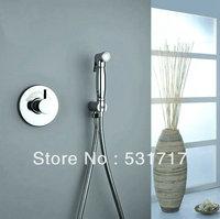 Water Saving Bathroom Shower Heads Tap Faucet Handle Shower Brass Chrome Mixer Valve Wall mounted DE35