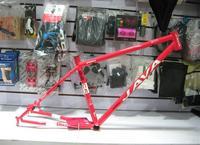 bicycle frame size free shipping JAVA PRO chrome molybdenum steel mountain bike frame + bridge pipe + pipe clamp