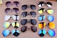 13Colors Free Shipping 2014 Sale Designer Blue Mirrored Sunglasses Men Silver Mirror Vintage Sunglasses Women Glasses Hot