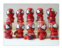 5CM spider man batman spider-man move action figures anime pvc marvel figure toy for boys kid assemble collection  free shipping