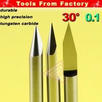 10 x Carbide PCB cnc router V bits Engraving Bit Tungsten tools - Engrave Wood Acrylic PVC Metal tool Diameter 3.175 # J3.3001