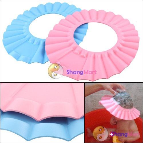 Free shipping: Soft Baby Kids Children Shampoo Bath Shower Cap Hat New wholesale(China (Mainland))