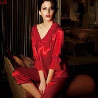 100% real Silk sleepwear women's 100 mulberry silk women's sexy pajama sets on sale free shipping