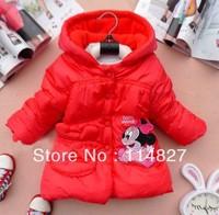 hot sell!! New style winter cotton Girl's coat , Babygirl  Minnie coat lovely princess coat,1pcs/lot