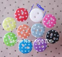 H00196 fashion resin button Dot Printed shirt button 10mm round Mini children buttons 180pcs