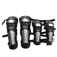 Hot Selling free shipping motorcycle protective gear / racing knee / elbow pads riding quality elbow kneepad four piece set
