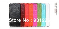 Hot Fashion Free Shipping Embossing Design Elegant Cow Leather Floder Case Cover For Apple Iphone 5 (BI-BL028)