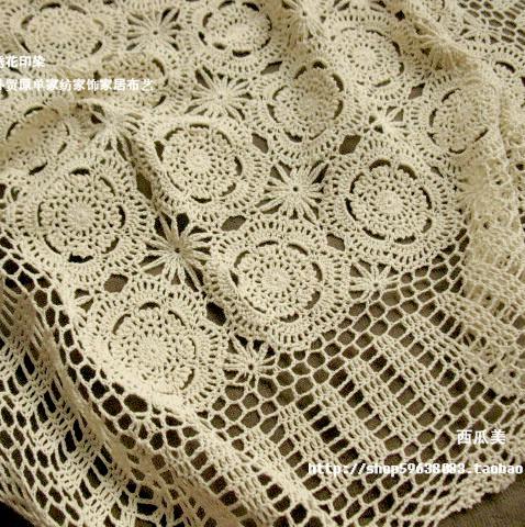 Beautiful Design Hook Needle Crochet Large Dining Table