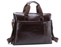 2014 New Fashion Classic Designer Men's Genuine Leather Briefcases Laptop Shoulder Bag Business Handbag High Quality
