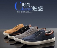 Free shipping 1pair/lot Nubuck Leather Men's Casual Man Sneakers Sports Shoes