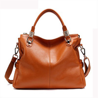 Workmanship Cowhide Leather Handbags Designers Brand 213 Genuine Leather