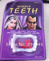 2013 free shipping  Halloween Vampire Teeth halloween bloody capsules easy to use and remove
