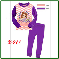 "new 2013 ""Caluby"" Boys Girls autumn -summer Lycra Pajamas Children Clothing sets beautiful sofice Pyjamas X-011"