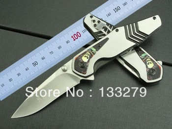 hot! Free shipping Browning knife Stainless steel  handle   blade material:3Cr13Mov  color box packaging