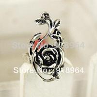 C195 Men Women Vintage Jewelry Vintage Flower Flora Rose bine ratan rattan Vine Finger Rings