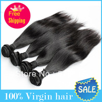 Queen hair products 5A Unprocessed mixed length 4pcs lot,brazilian straight hair extenstions No Shedding No Tangle free shipping