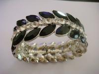 free shipping hot sale in 2013 new design crystal bracelet metal elastic bracelet for women fashion