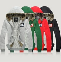 Free shipping Wholesale M/L/XL/XXL/XXXL Winter Hoodies brand new Hooded Extra Hoodies Thicker Soft Men Hoodies Overcoat W028