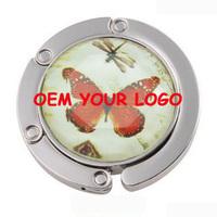 Round shape bag purse hanger make logo OEM DIY bag accessories 80pcs DHL free shipping