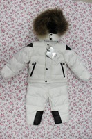 Children kid's boy girl baby padded duck down feather jacket coat+pants trousers coats outerwear clothing set parkas  for winter